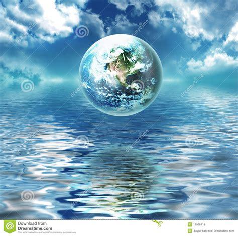 imagenes de rosas sobre agua tierra sobre el agua stock de ilustraci 243 n imagen de