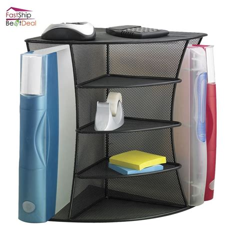 Desk Supply Organizer Safco Desk Organizer File Folders Storage Shelve Holder Binders Office Supplies Ebay