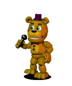 Fredbear from scott cawthon s rpg fnaf world