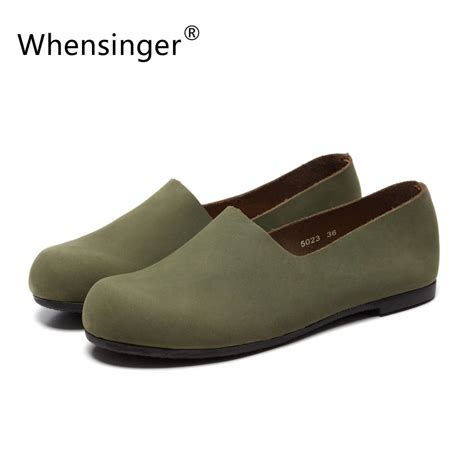 Whensinger 2017 Leather Shoes Handmade - whensinger 2017 leather shoes handmade genuine retro
