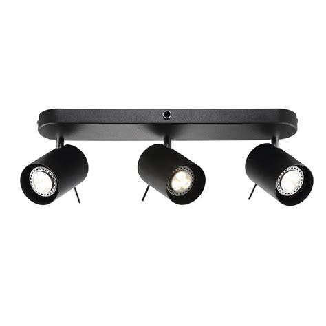 Kitchen Led Lights Under Cabinet Nordlux Prime 3 Spot Rail Spotlight Gu10 Black