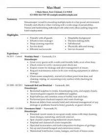housekeeping resume objective template design