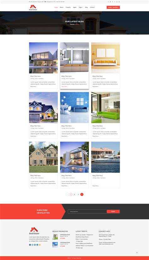 theme blog html5 real estate html5 template by asianweb themeforest