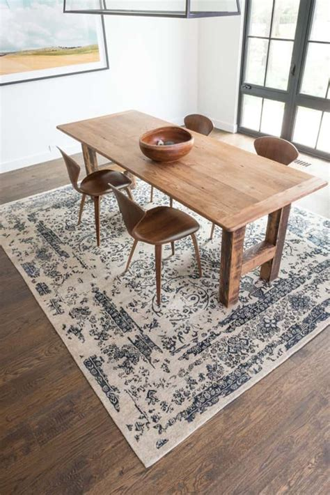Area Rug For Dining Room Table How To A Rug For Your Dining Room