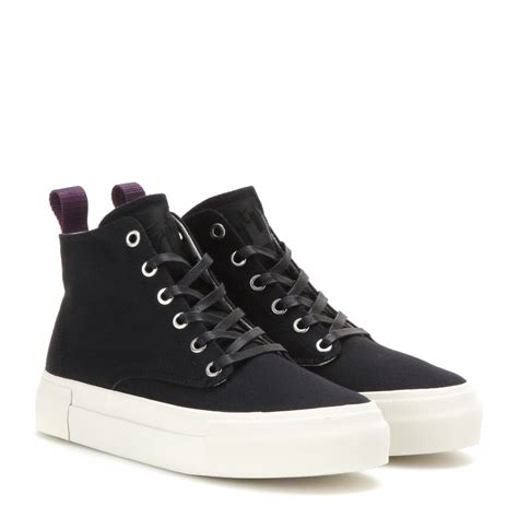 Canvas High Top Sneakers lyst eytys odyssey canvas high top sneakers in black