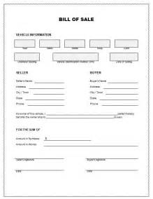 bill of sales template for car bill of sale template for car