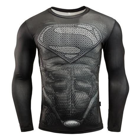 Pria Olahraga Ufc Black baju olahraga ketat pria crossfit mma compression shirt sleeve size l black white
