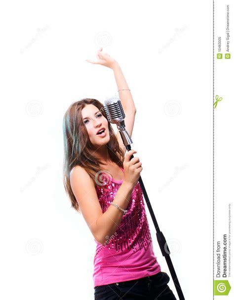 beautiful girl singing a popular song royalty free stock photo image 10463005