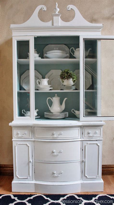 Shabby Chic Painted Kitchen Cabinets | shabby chic painted white china cabinet hometalk