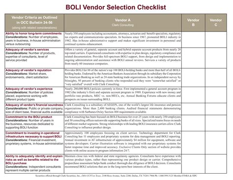 software vendor selection criteria template best photos of vendor evaluation spreadsheet vendor