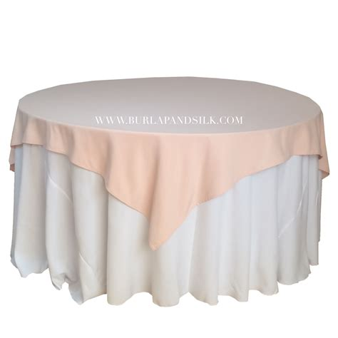blush table overlay blush table overlays 85 x 85 inches table overlays for 6 ft