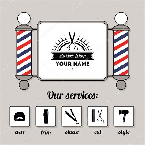 barber shop vector price list template haircut and shave retro barber barber shop vector price list template haircut and shave