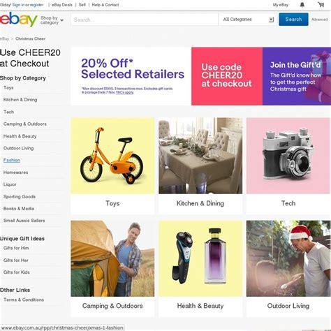 ebay ozbargain 20 off 105 participating stores ebay ozbargain