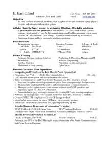 it security resume exles student resume template