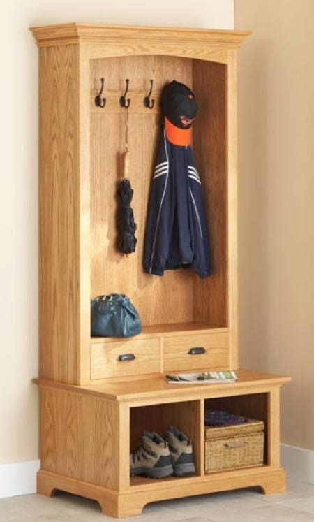 combination coat rack  bench   entry door   goodbye  sogg