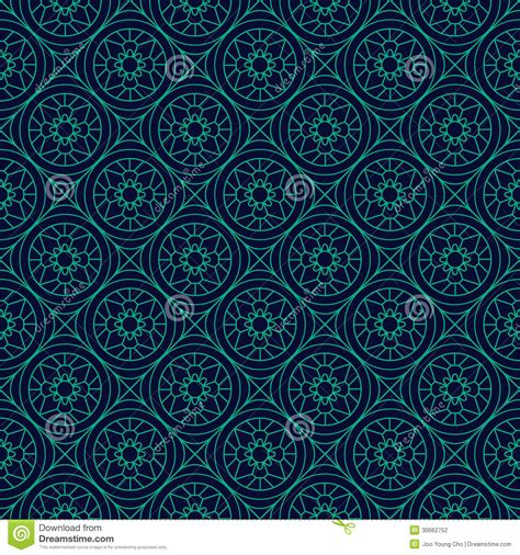 traditional pattern photography green and blue colors round grid pattern korean