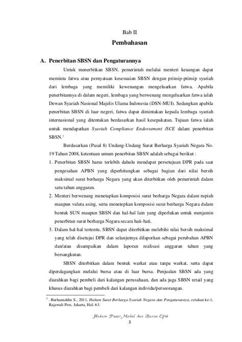 Hukum Surat Berharga Syariah Negara Dan Pengaturannya Burhanuddin S Pembahasan Sbsn
