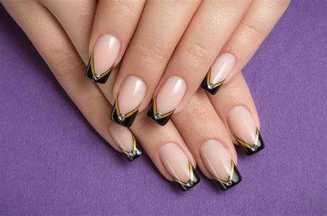 Nägel Muster by 41 Bildideen F 252 R Nageldesign Schwarz Gold