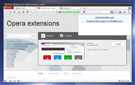 download youtube extension opera linux unix opera 11 alpha with extensions support is