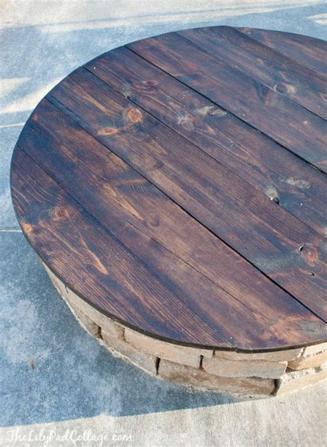 diy pit screen pit cover table outdoors