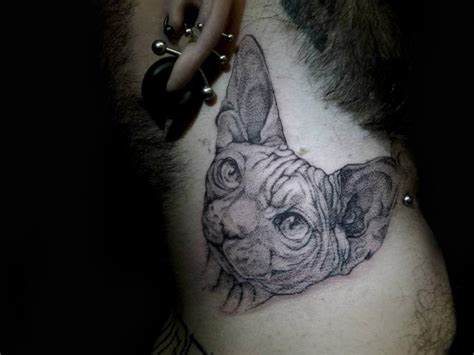 dotwork cat tattoo neck cat dotwork tattoo by the lace makers sweat shop