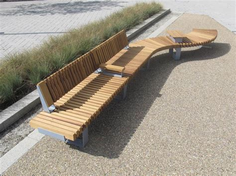 bench landscape furnitubes launch new railroad modular bench and seating