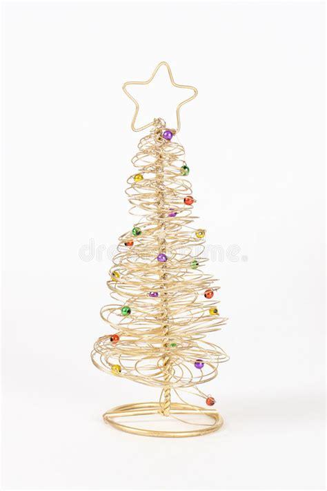 draht weihnachtsbaum stockfoto bild von gold draht wei 223
