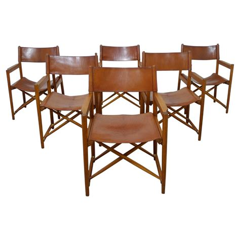 1940s Dining Room Furniture Set Of Six Safari Dining Chairs In The Style Of Mogens Koch Denmark 1940s For Sale At 1stdibs