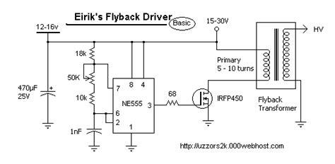 dual transistor flyback driver sgtc goodchild engineering llc