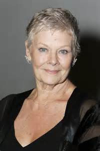 judy dench hairstyle front and back judi dench hairstyle front and back of head photo short
