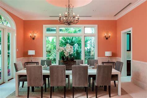 orange white  gray dining room interiors  color