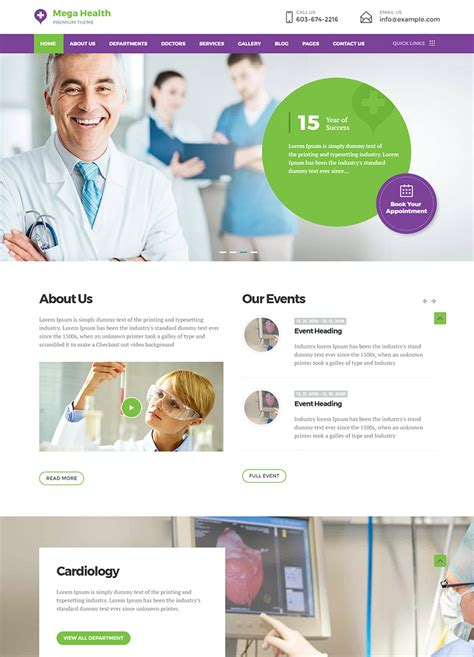 megahealth medical wordpress theme buy premium megahealth