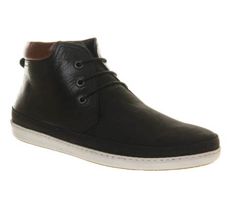mens black leather chukka boots mens office skate chukka boot black leather mix boots ebay