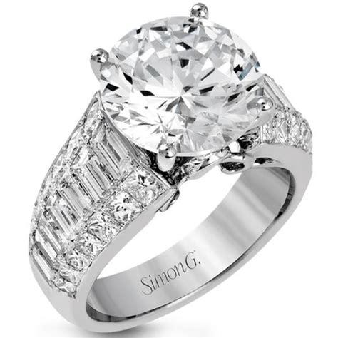 simon g 18k large center engagement ring