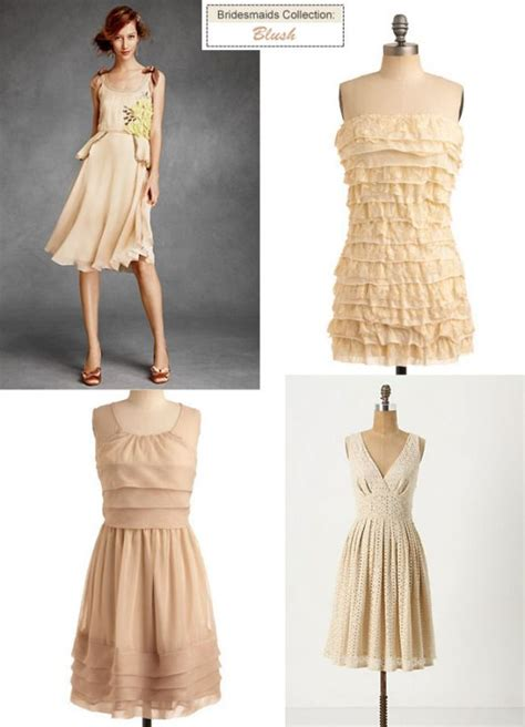 show your mismatched bridesmaid dresses in peach coral