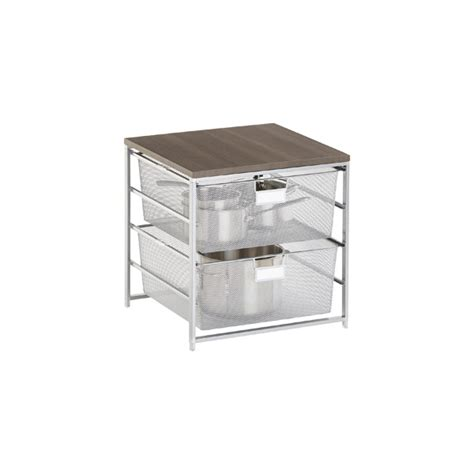 Elfa Drawer System by Platinum Cabinet Sized Elfa Mesh 2 Drawer Solution The