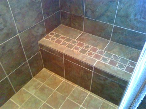 tiled shower with bench shower benches tile pollera org
