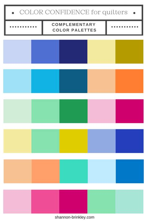 complementary colors color confidence for quilters part 3 complementary color