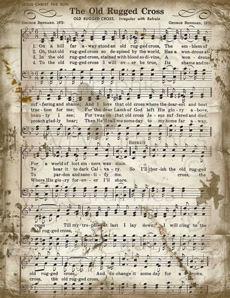 printable sheet music hymns the old rugged cross free piano sheet music google