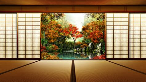 japanese walls japanese house wallpaper 269556