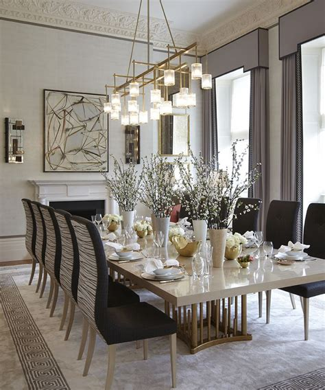 dining room designs with simple and elegant chandilers best 25 rectangular chandelier ideas on pinterest