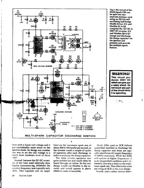 capacitive discharge firing circuit capacitor discharge ignition circuits