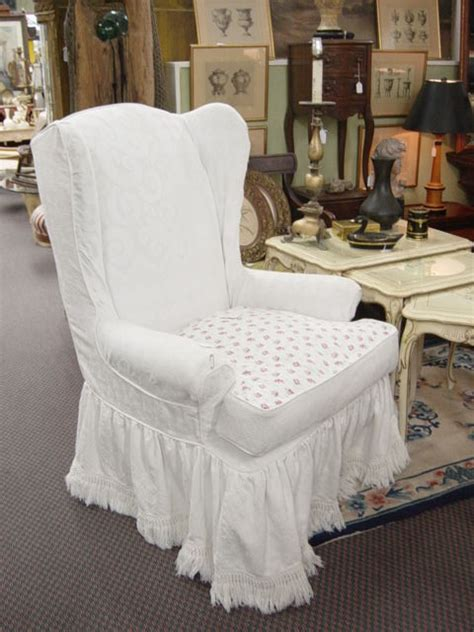 shabby chic slipcovers for sale beautiful shabby chic wing chair slipcovers the clayton