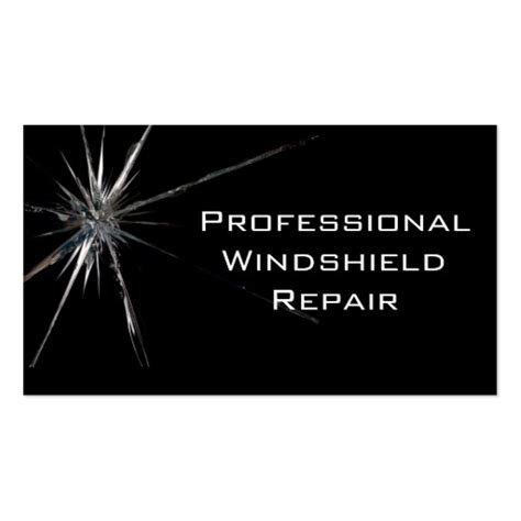 windshield repair business card template windshield repair business card zazzle