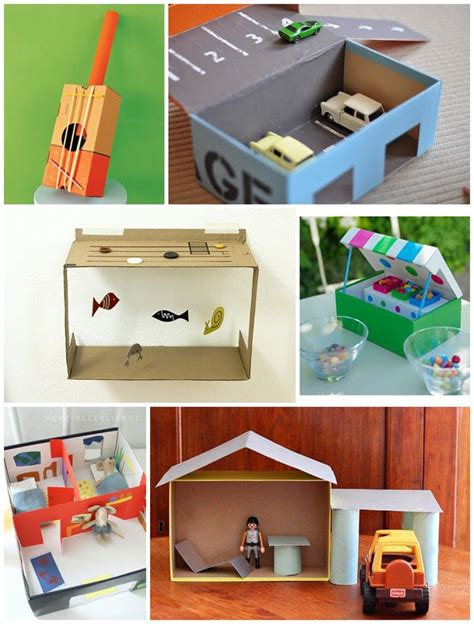 shoe box crafts for diy educational toys made from recycled items