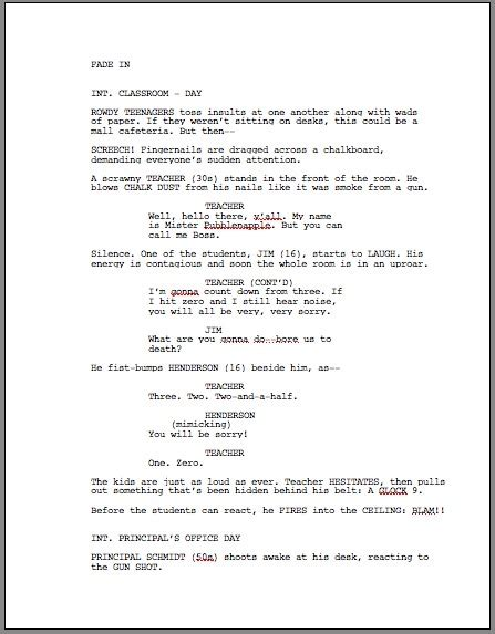 How To Format A Screenplay Learning The Screenwriting Formula Screenplay Format Template