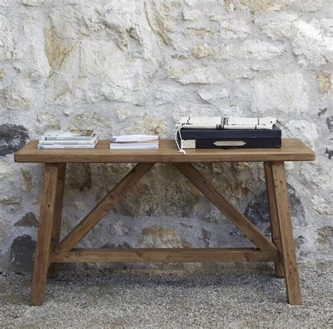 small rustic console table outdoor small console table made from reclaimed wood for