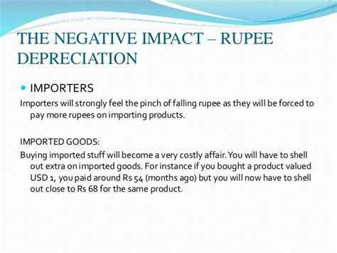Negative Foreign Currency Impact Mba depreciation of indian currency