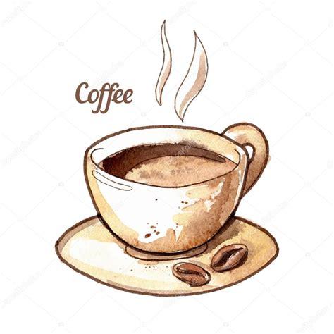 imagenes de varias tazas de cafe taza de caf 233 acuarela dibujada a mano vector de stock