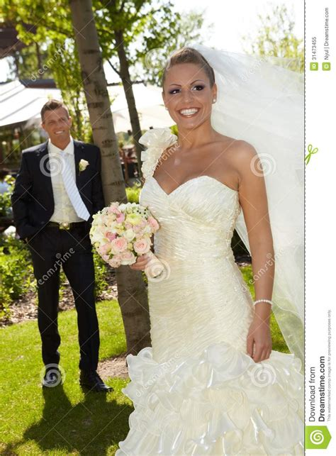 beautiful woman  wedding day royalty  stock photo